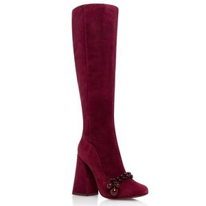 Tory Burch Addison 95mm Boot Suede Heel Knee High